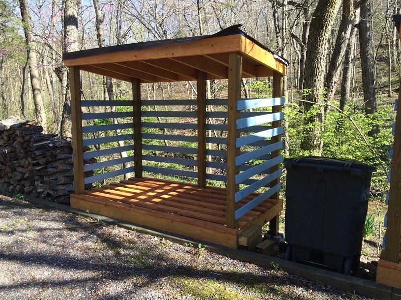 Left Side Complete Wood Shed
