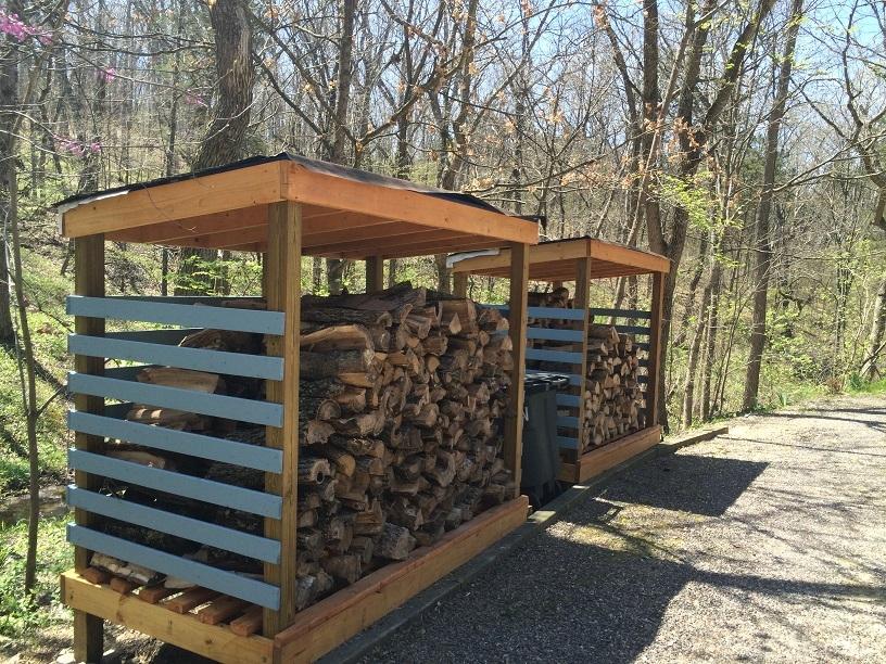Both Wood Sheds Full of Wood